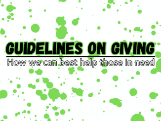 Guidelines on Giving - How we can best help those in need