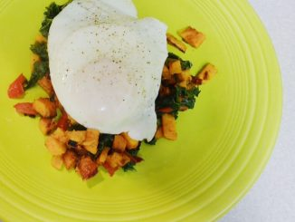 Breakfast For Dinner - Sweet Potato And Kale Hash With Fried Egg