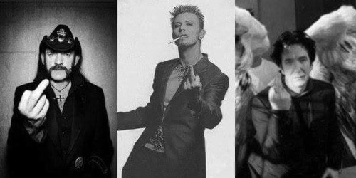 fuck cancer - grieving our idols. Bowie, Lemmy, Rickman