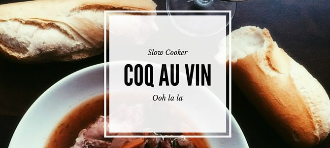 Make this fairly simple Coq Au Vin for dinner tonight. An easy way to get a delicious meal in the slow cooker.