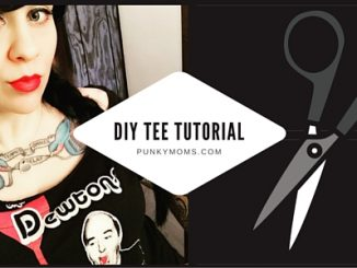 Learn how to create and repurpose a unisex shirt into a more form fitting fashion look. This punk diy updated tee tutorial is so easy to do thanks to Tricia's step by step instructions!