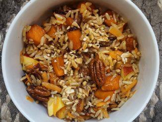 vegan brown rice and apple