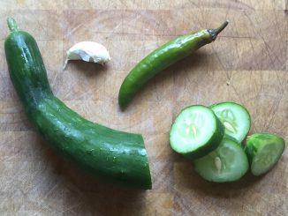 Garlic Chilaca Pickles 1