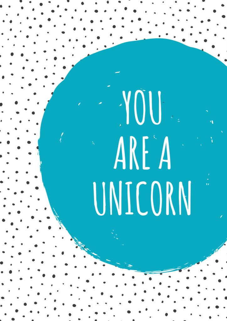 You are a Unicorn Free Empowering Printable at Punky Moms. Kill The Doubt. You Can Do Anything.