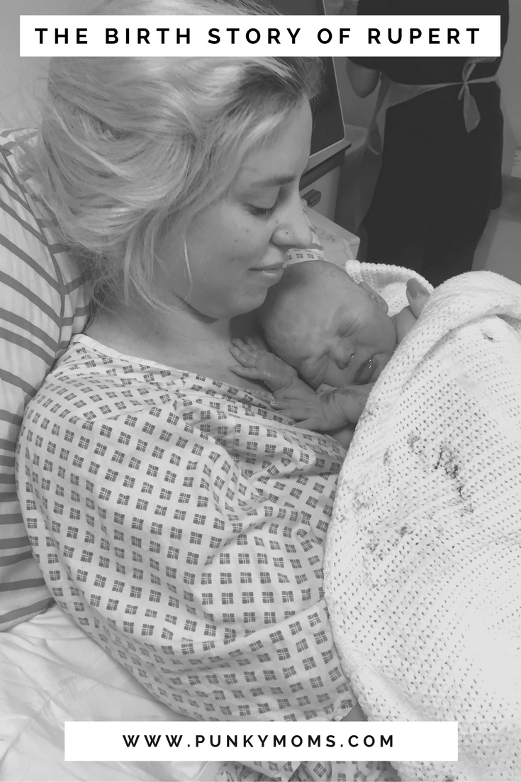 Baby Birth stories are our favorite here at Punky Moms. This month's birth story is of Rupert. Natalie had indescribably overwhelming surges. Yeah you know the ones.