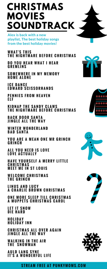 Alex has made us a brand new holiday mixtape. A list of all her favorite songs from Christmas movies. Elf, Edward Scissorhands and you know, Die Hard.